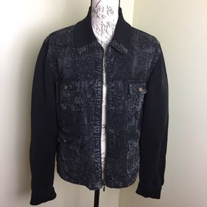 Chico's size 2/10/large jean texture jacket